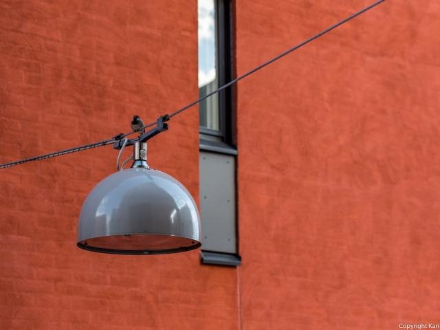 Lintu ja lamppu Fenixinrinteellä